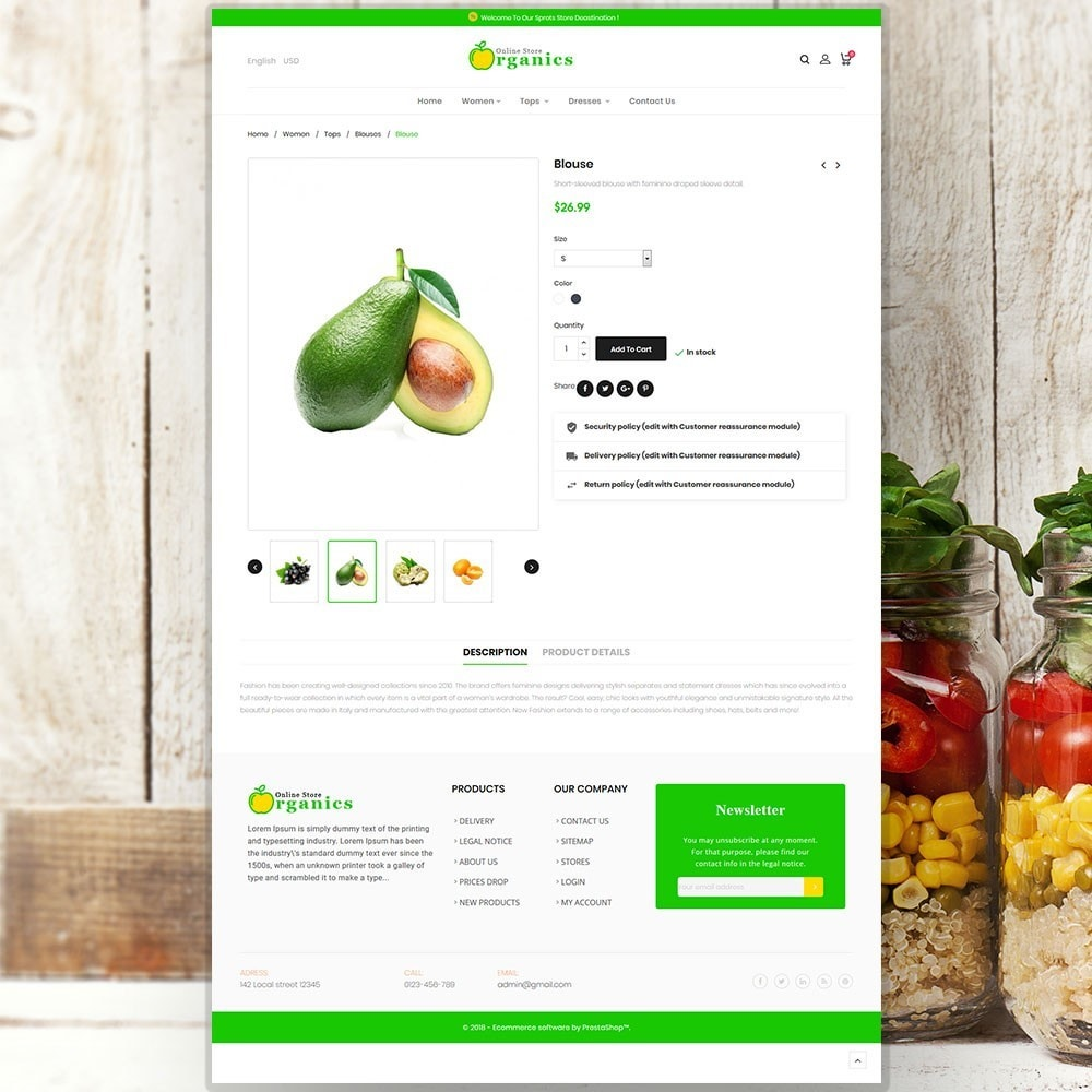 theme - Alimentation & Restauration - Organic vegetable store - 6
