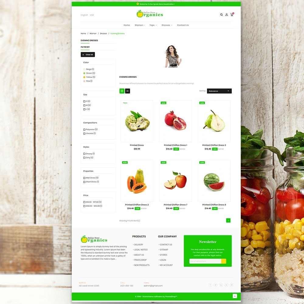 theme - Gastronomía y Restauración - Organic vegetable store - 5