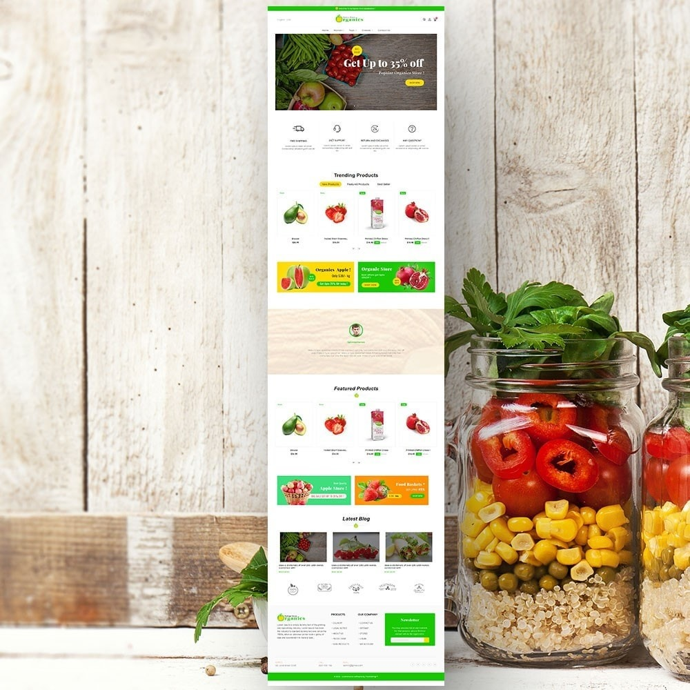theme - Lebensmittel & Restaurants - Organic vegetable store - 3