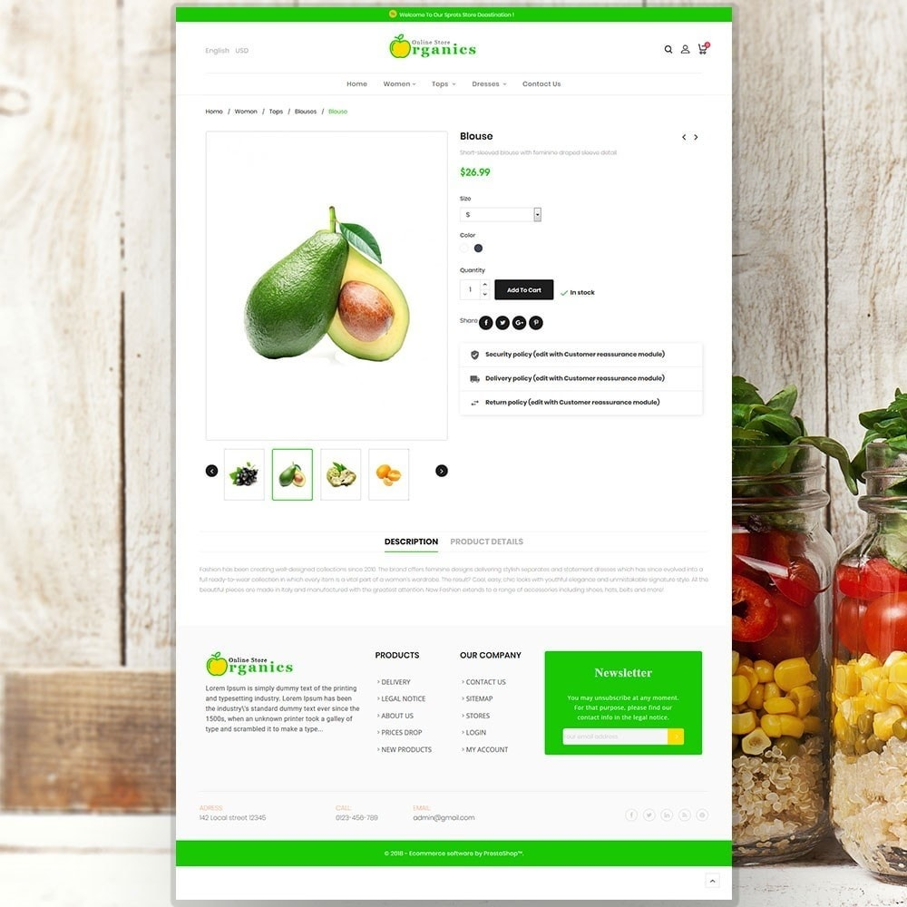 theme - Alimentos & Restaurantes - Organic vegetable store - 6