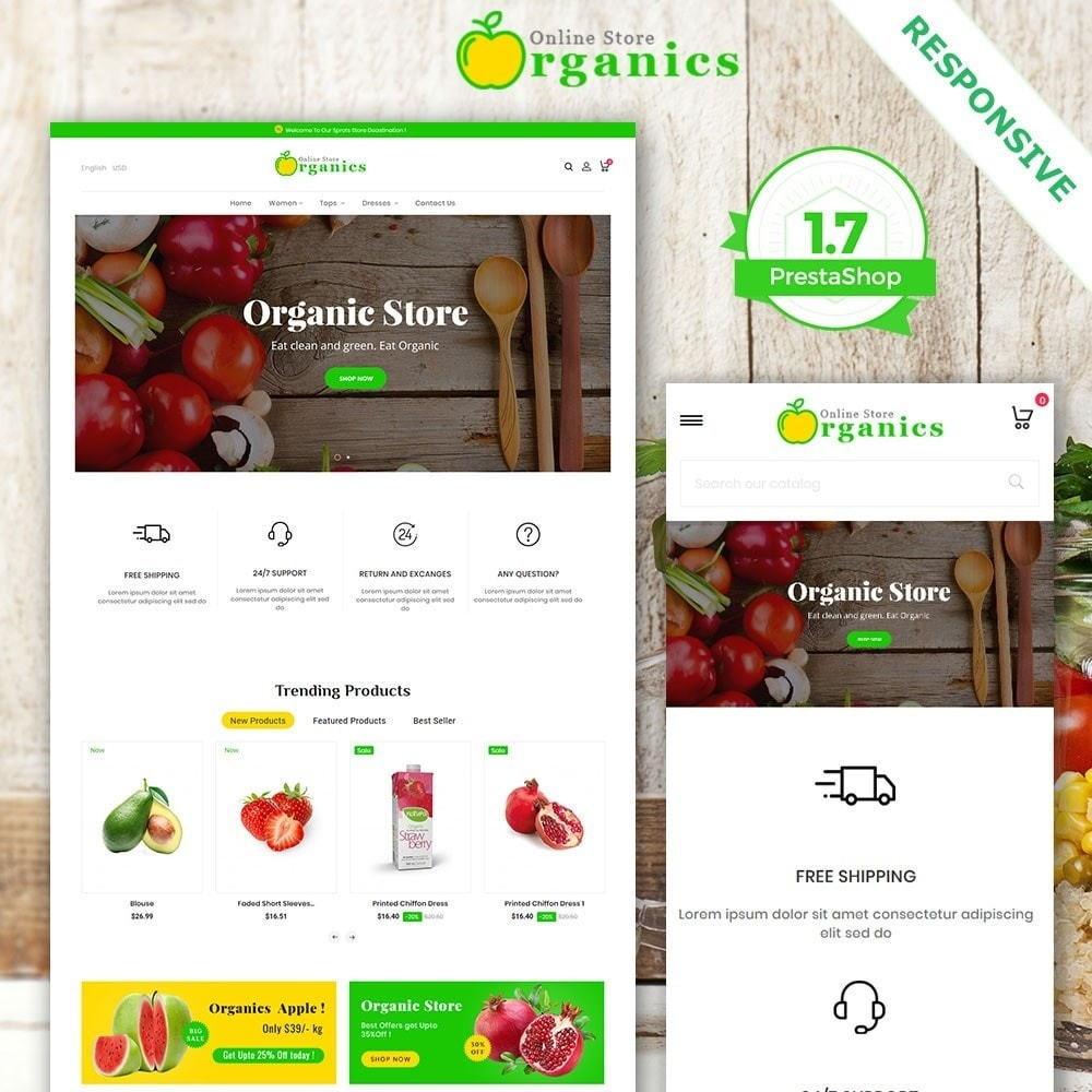 Organic vegetable store