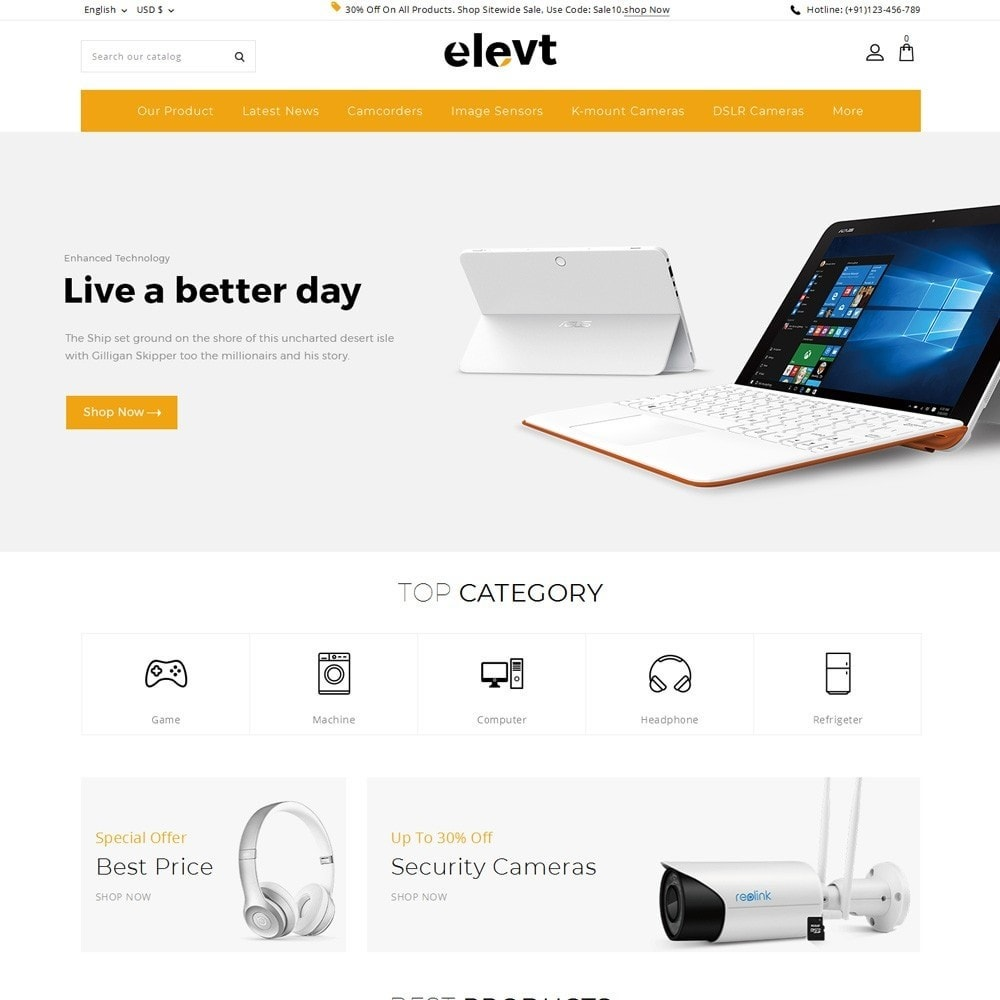 Elevt - The Electronic Store