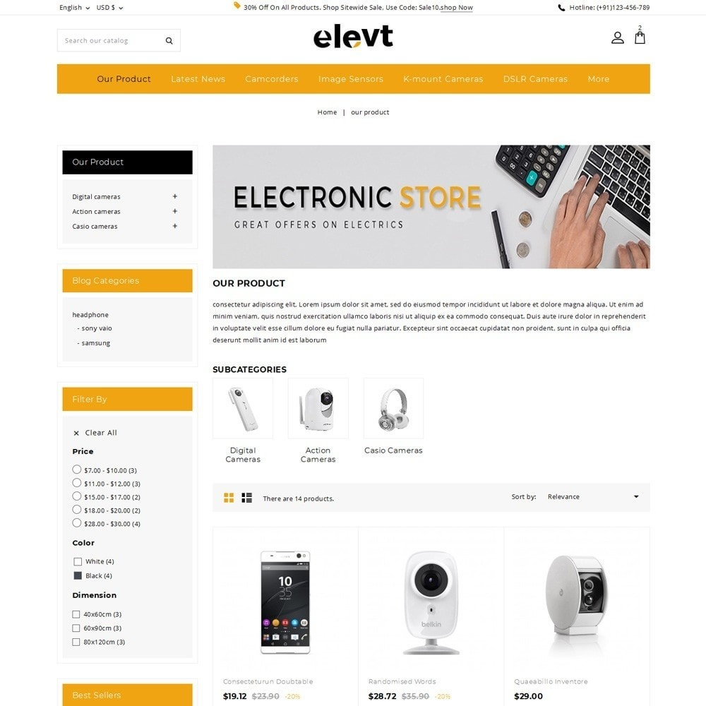 theme - Elettronica & High Tech - Elevt - The Electronic Store - 4