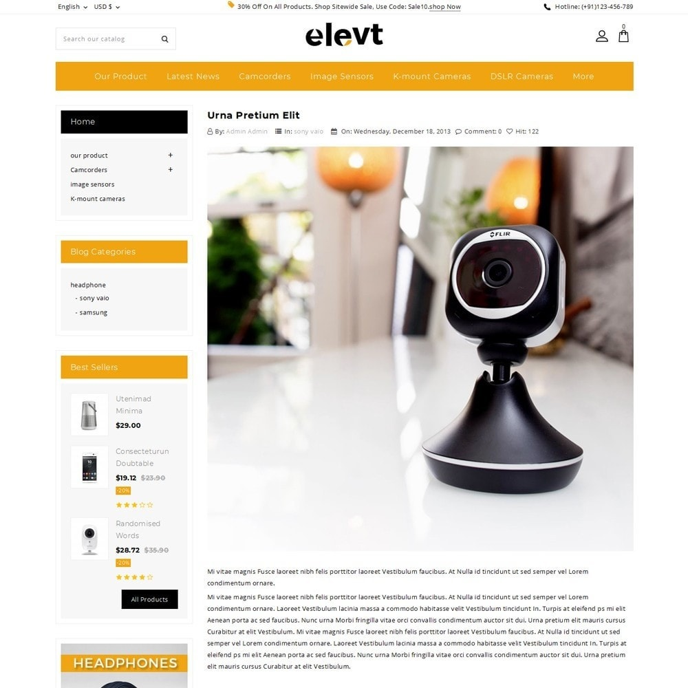 theme - Elettronica & High Tech - Elevt - The Electronic Store - 7