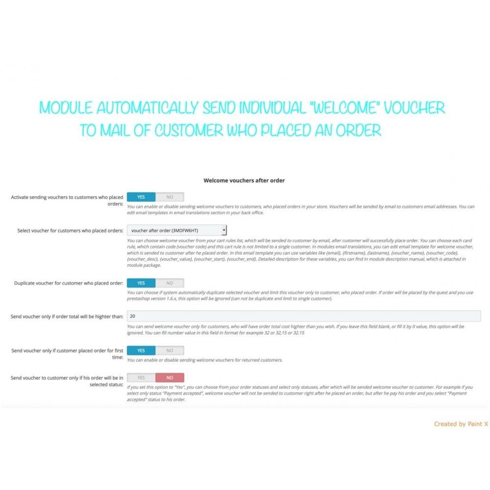module - Акции и Подарки - Автомат. отправление ваучера после подписа или заказа - 2