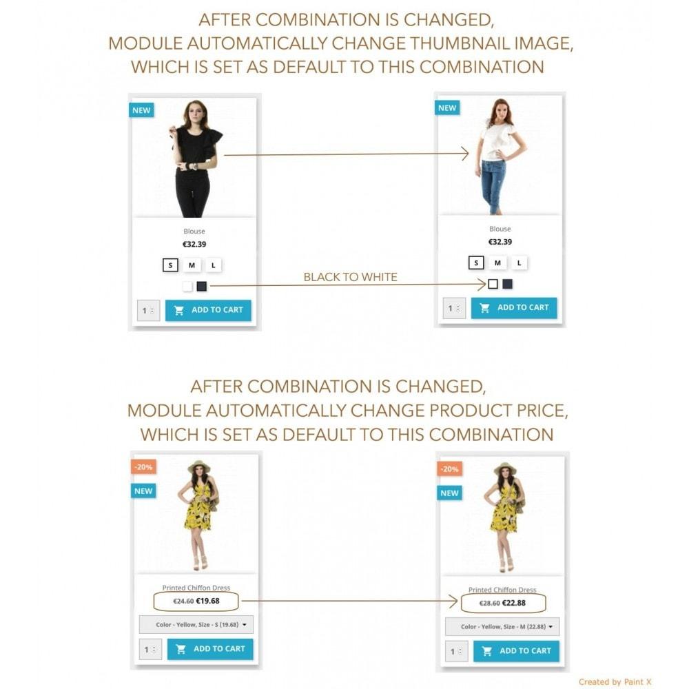 module - Вариаций и персонализации товаров - Просмотр атрибутов продукта в списке продуктов - 3