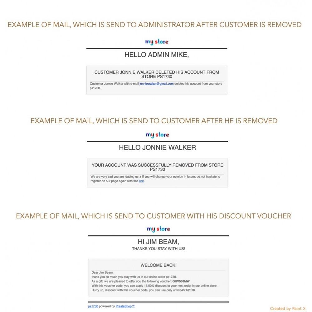 module - Marco Legal (Ley Europea) - GDPR Eliminación de cuentas con opciones avanzadas - 7