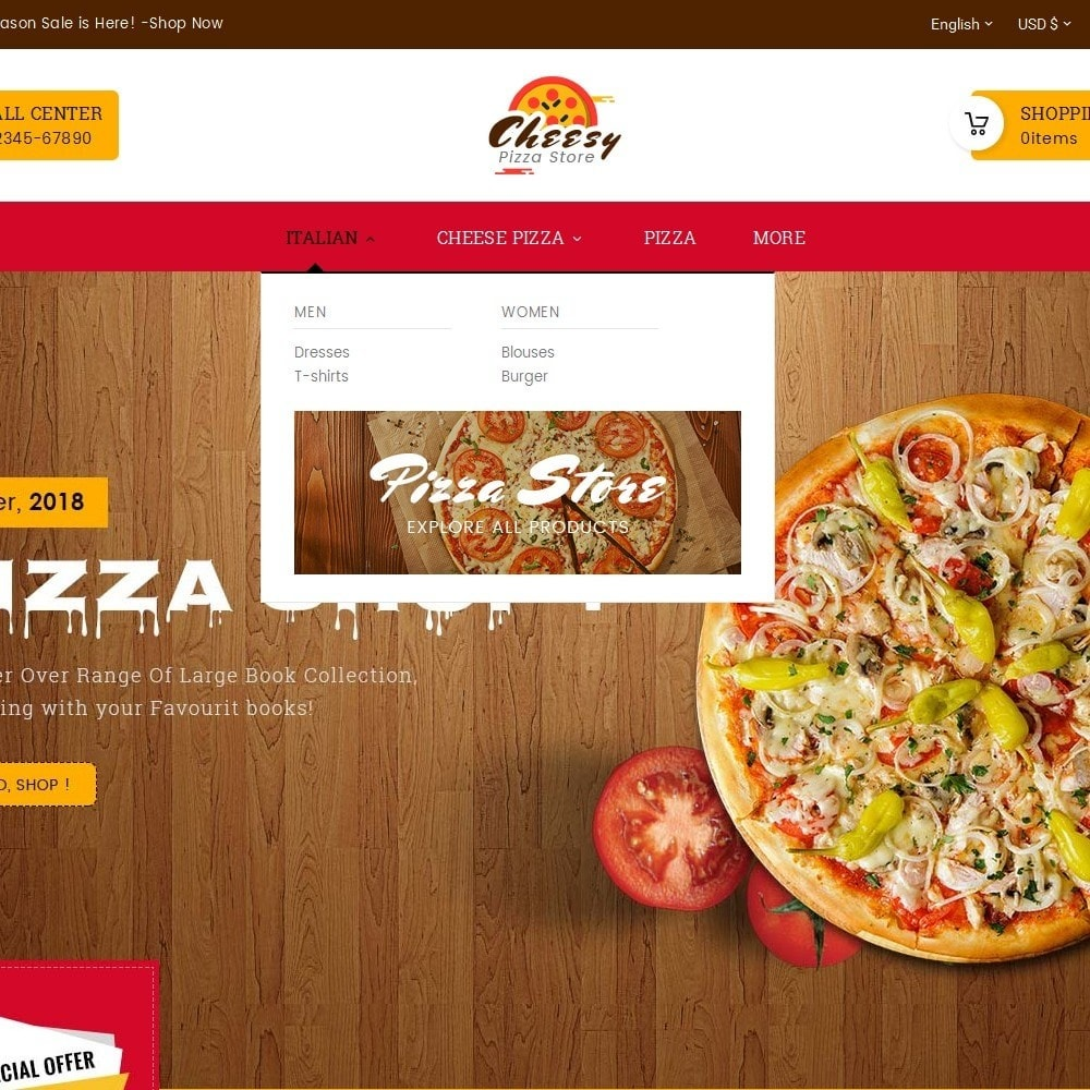 theme - Eten & Restaurant - Cheesy Pizza - Fast Food - 8