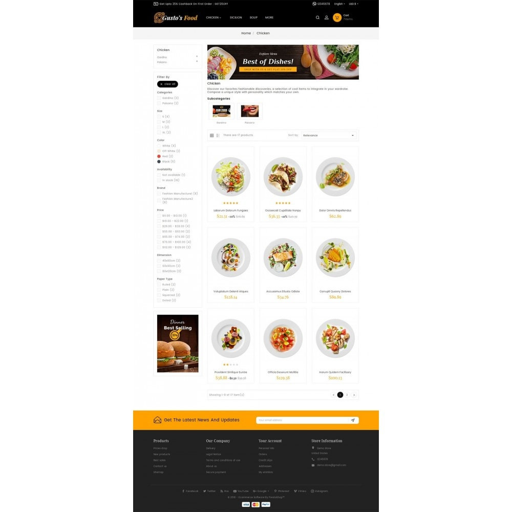 theme - Alimentation & Restauration - Gusto Restaurant Food - 3
