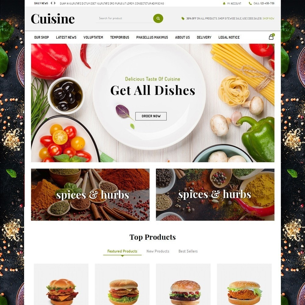 theme - Food & Restaurant - Cuisine - The Food Shop - 2