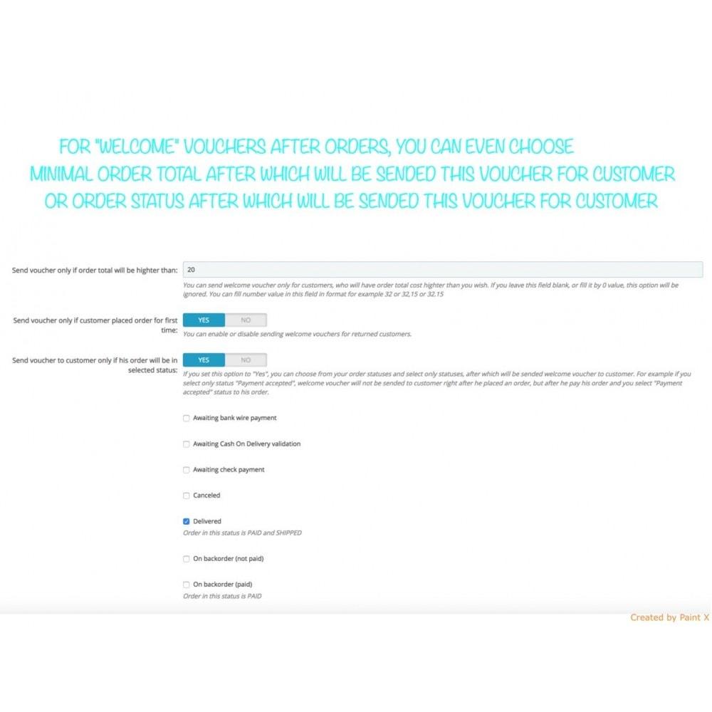 module - Promocje & Prezenty - Wyślij kupon po rejestracji lub zamówieniu - 6