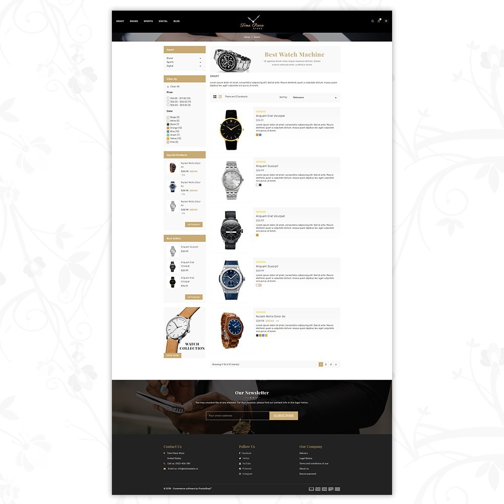 theme - Спорт и Путешествия - Timepiece - Watch Store - 4