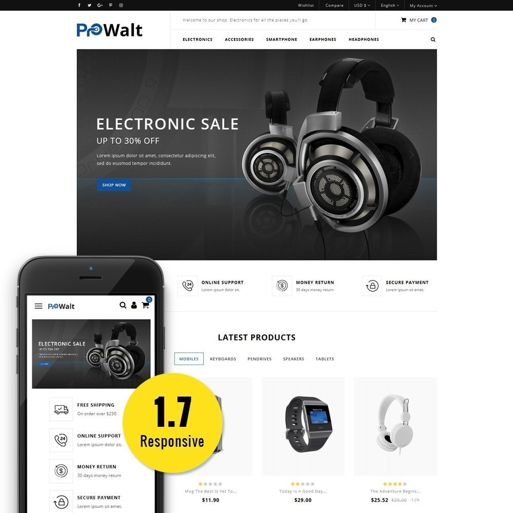 theme - Elektronik & High Tech - ProWalt Electronic Store - 1