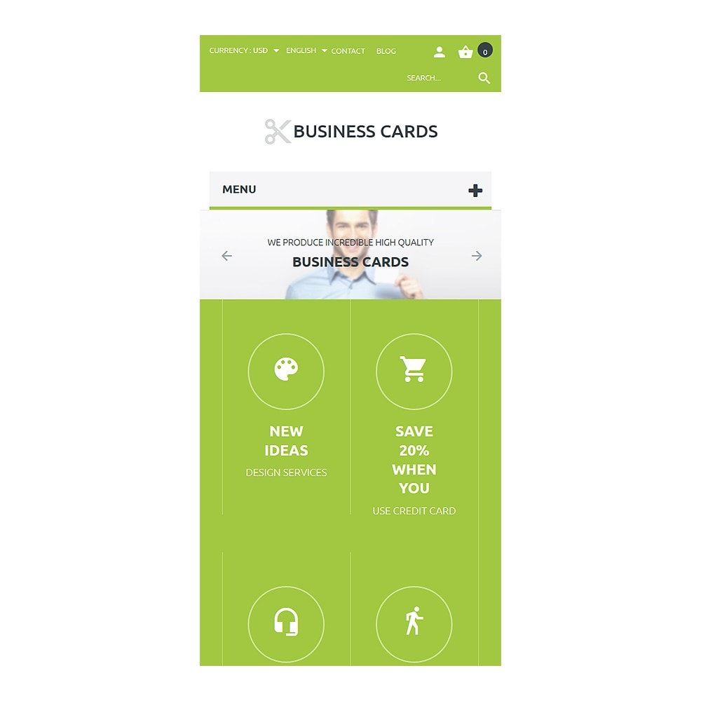 theme - Template PrestaShop - Business Cards Store - 8