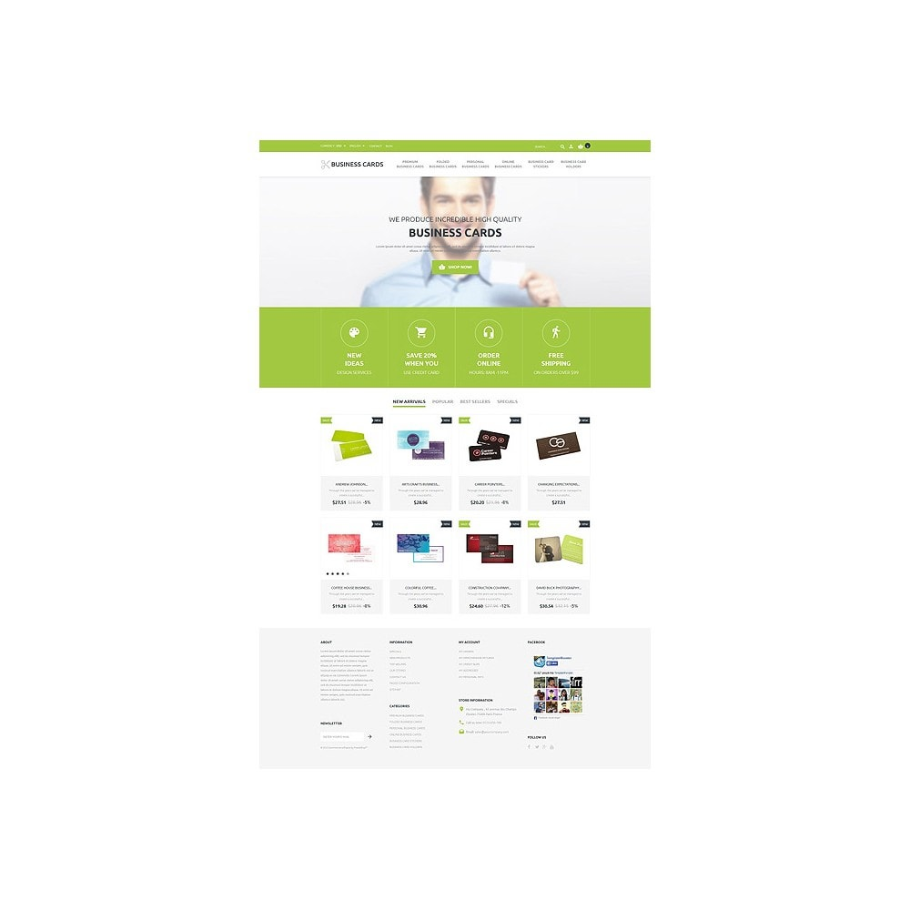 theme - PrestaShop thema's - Business Cards Store - 10