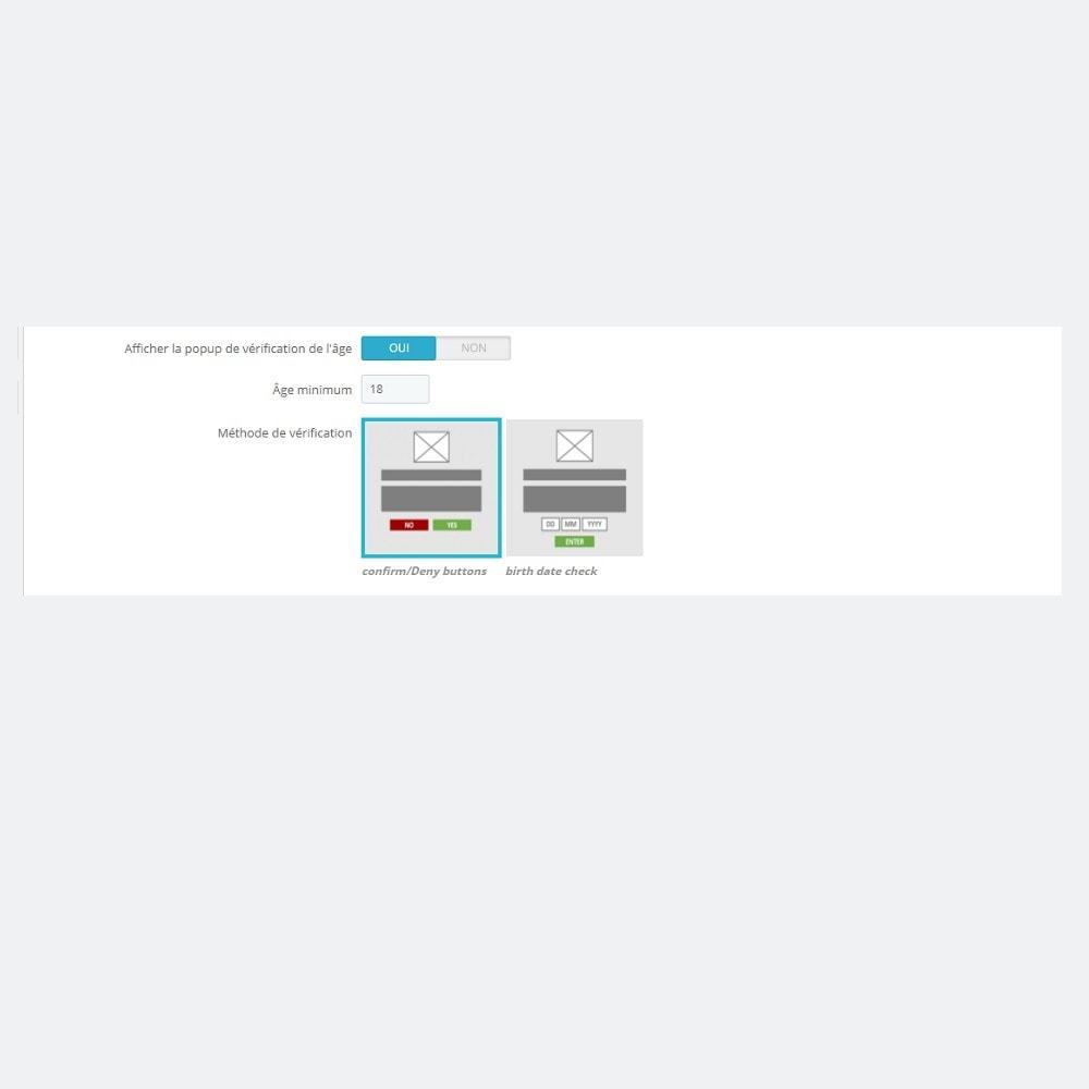 module - Sécurité & Accès - Vérification d'Âge Minimum (Popup) - 4