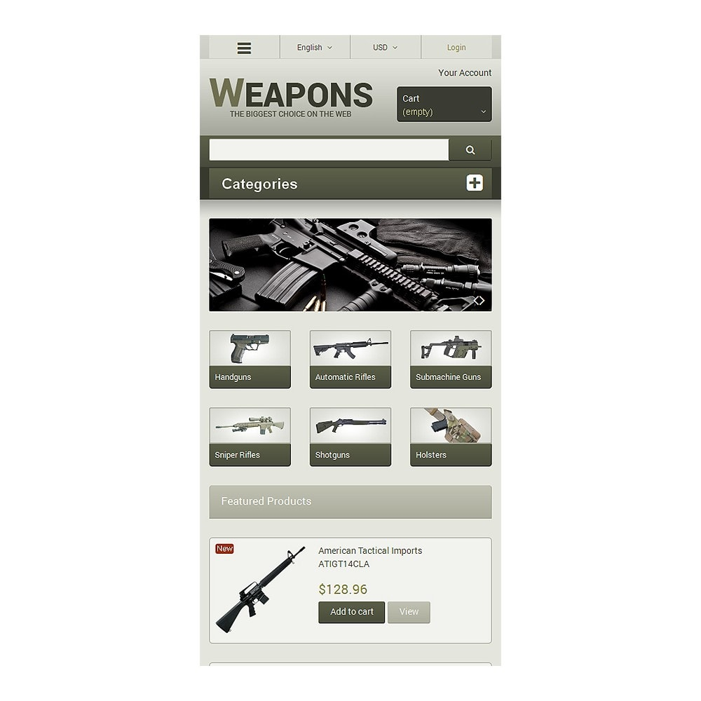 theme - Temas PrestaShop - Weapons of All Calibres - 8