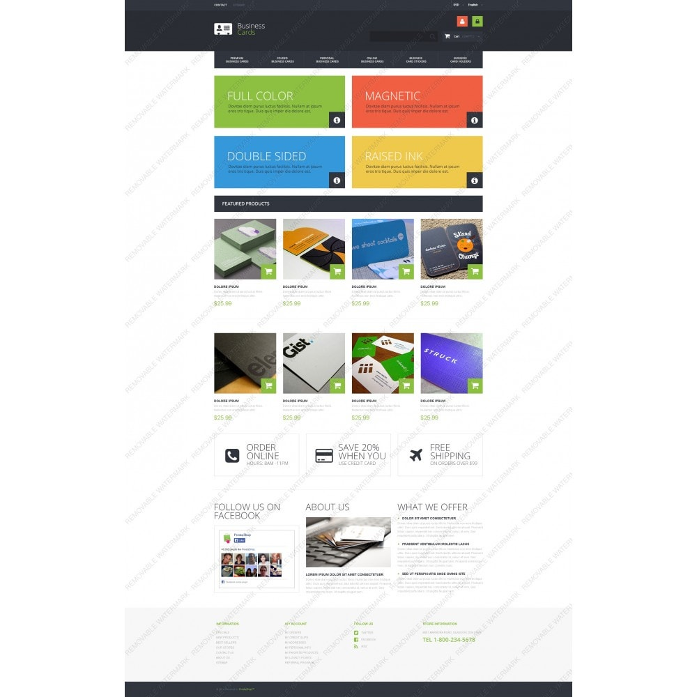 theme - PrestaShop Templates - Business Cards Store - 5