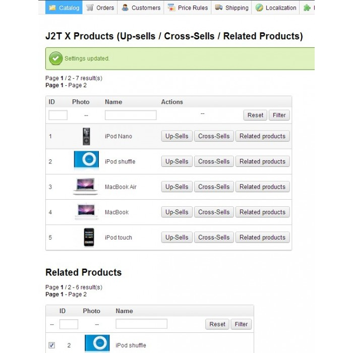 module - Cross-selling & Product Bundles - J2T X Product Up-sells / Cross-Sells / Related Products - 13