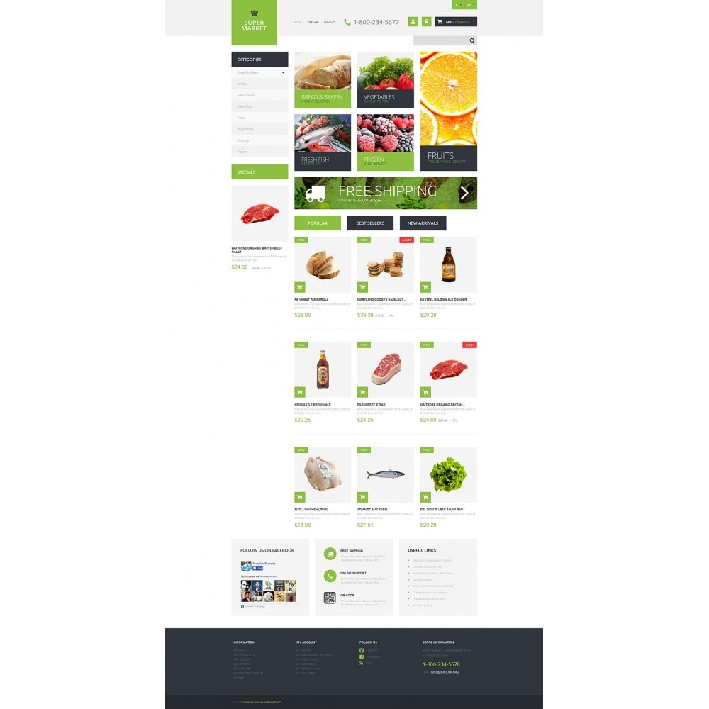 theme - Food & Restaurant - Supermarket Template - 2