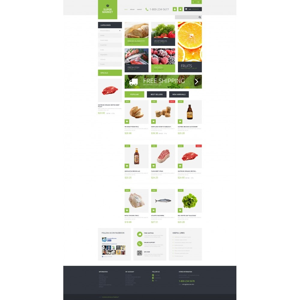 theme - Food & Restaurant - Supermarket Template - 4