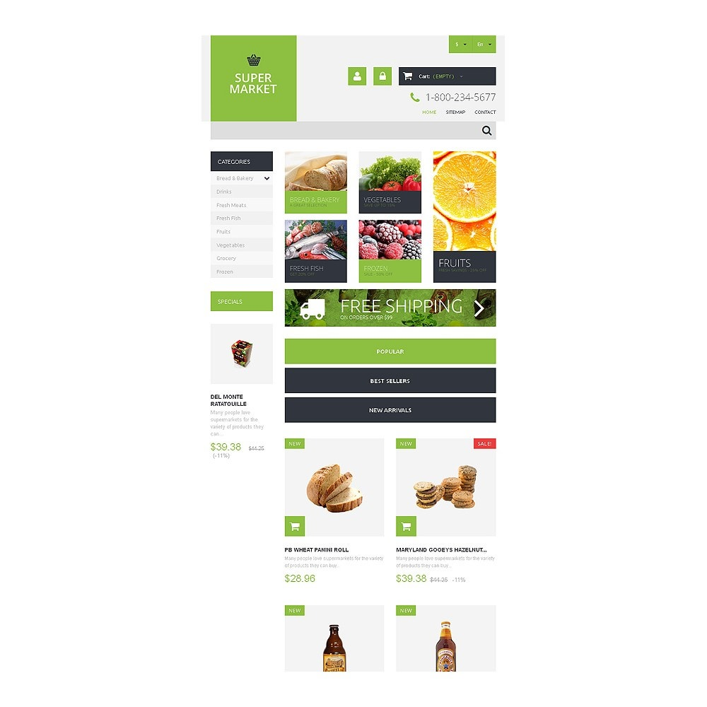 theme - Food & Restaurant - Supermarket Template - 7