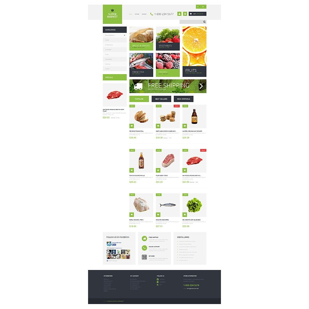 theme - Food & Restaurant - Supermarket Template - 10