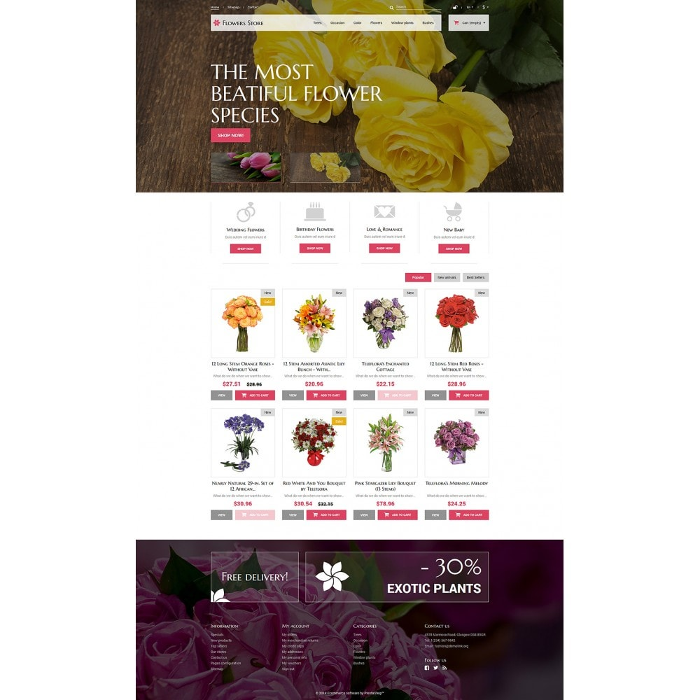 theme - Gifts, Flowers & Celebrations - Flowers Store - 2