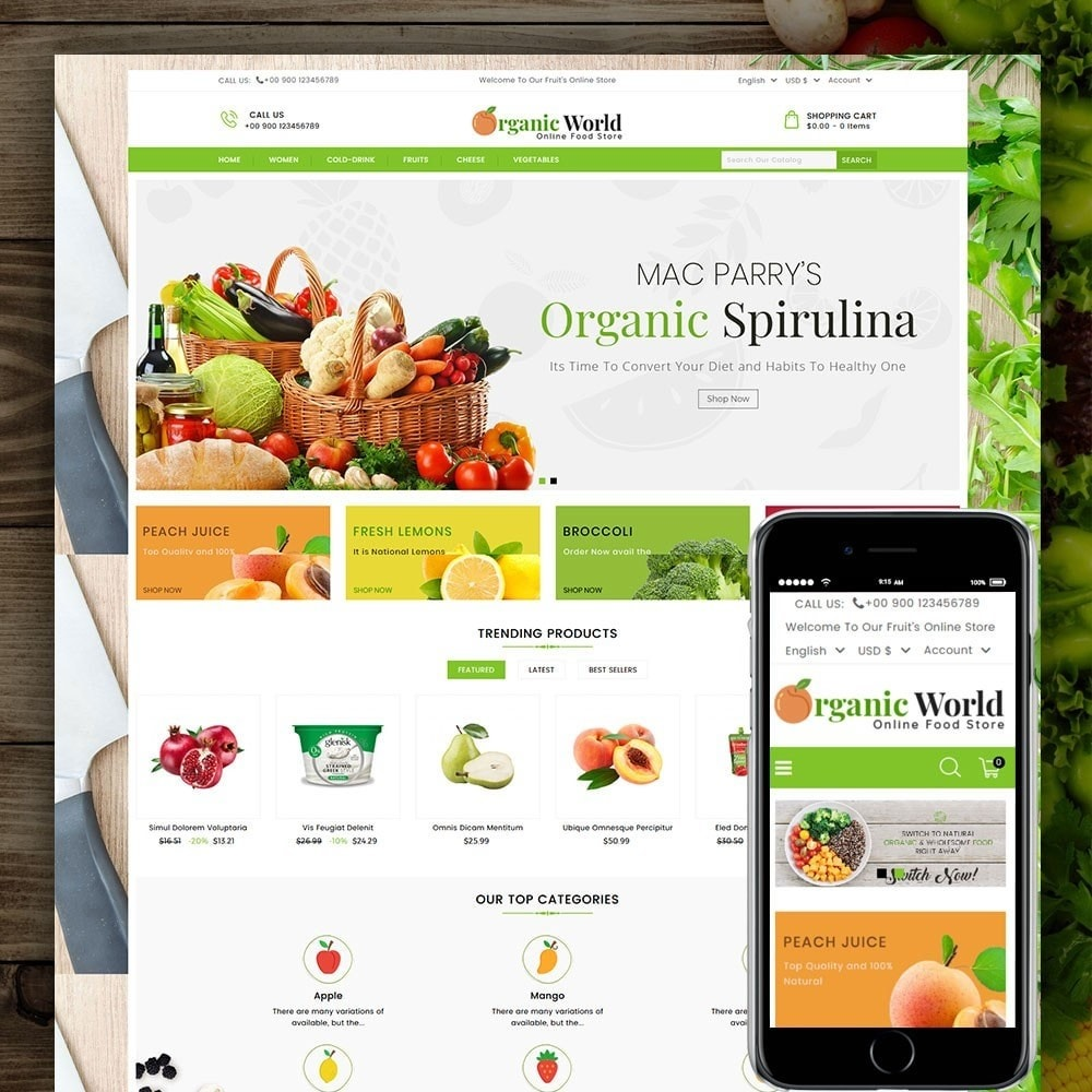 theme - Eten & Restaurant - Organic World Food Store - 1