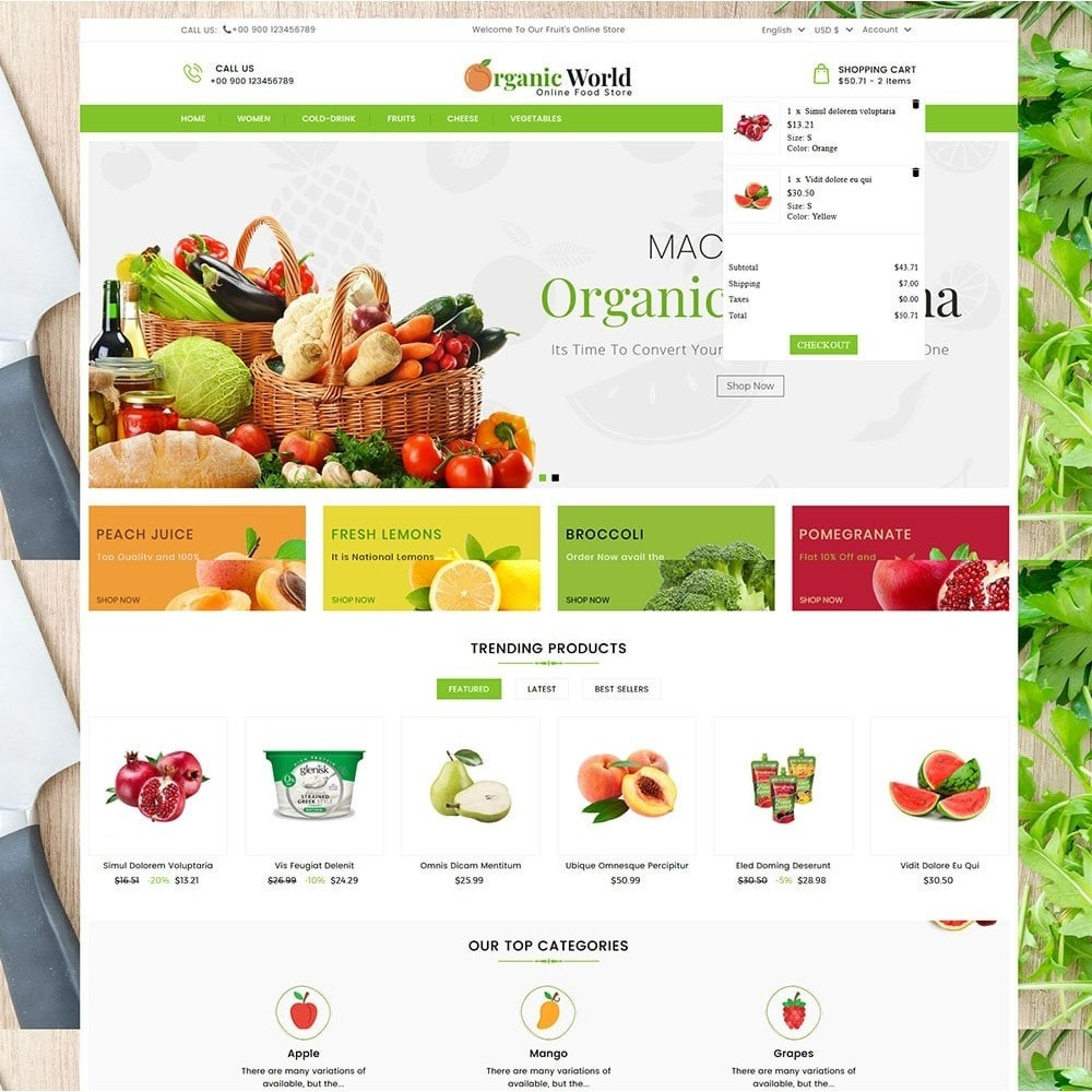 theme - Food & Restaurant - Organic World Food Store - 3