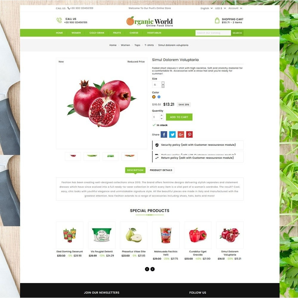 theme - Lebensmittel & Restaurants - Organic World Food Store - 6