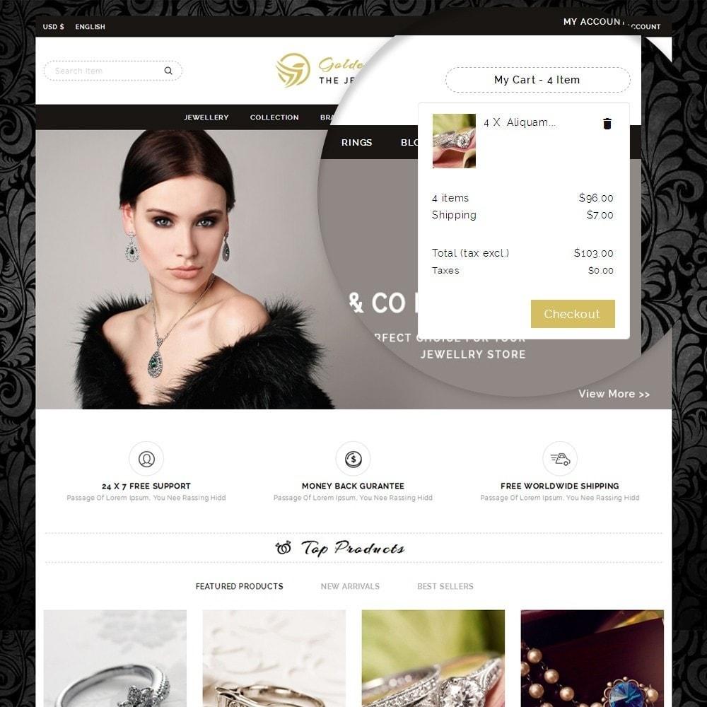 theme - Sieraden & Accessoires - Golden Sparrow - Jewelry Shop - 9