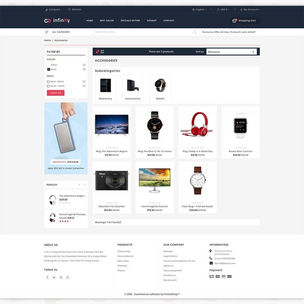 Infinity - The Mega Ecommerce Store