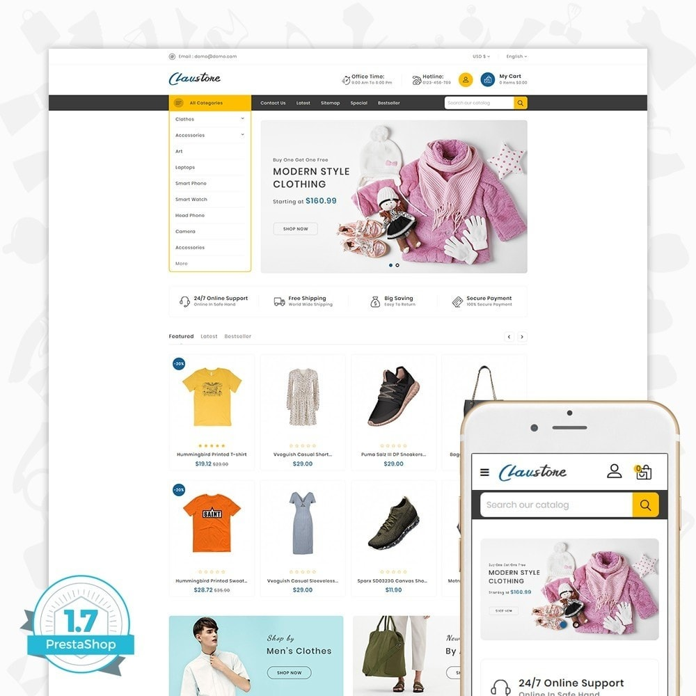 theme - Moda & Calçados - Clausestore - The Fashion Template - 1