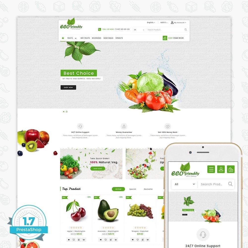 theme - Health & Beauty - Eco  - Friendly Organic Food Template - 1