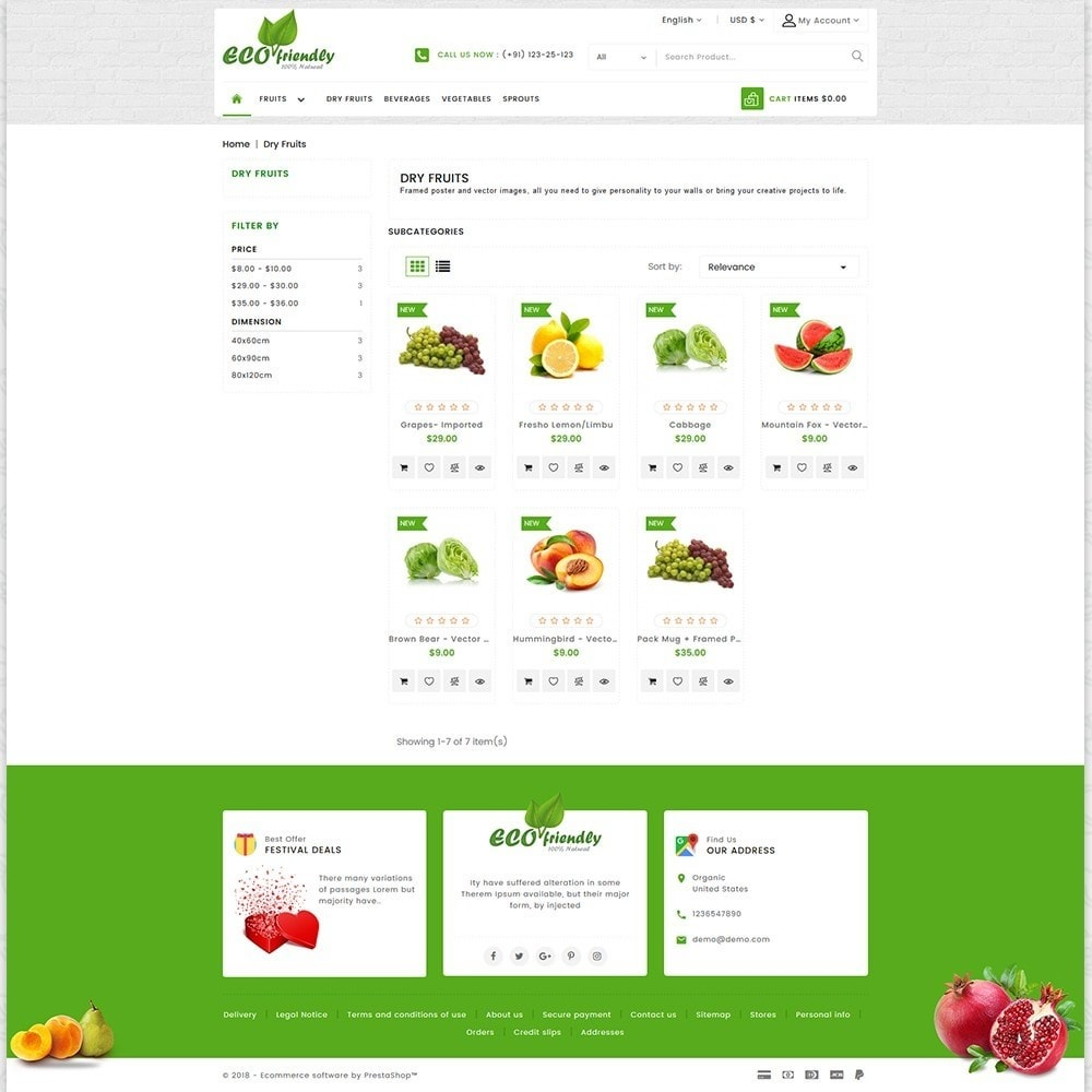 theme - Health & Beauty - Eco  - Friendly Organic Food Template - 3