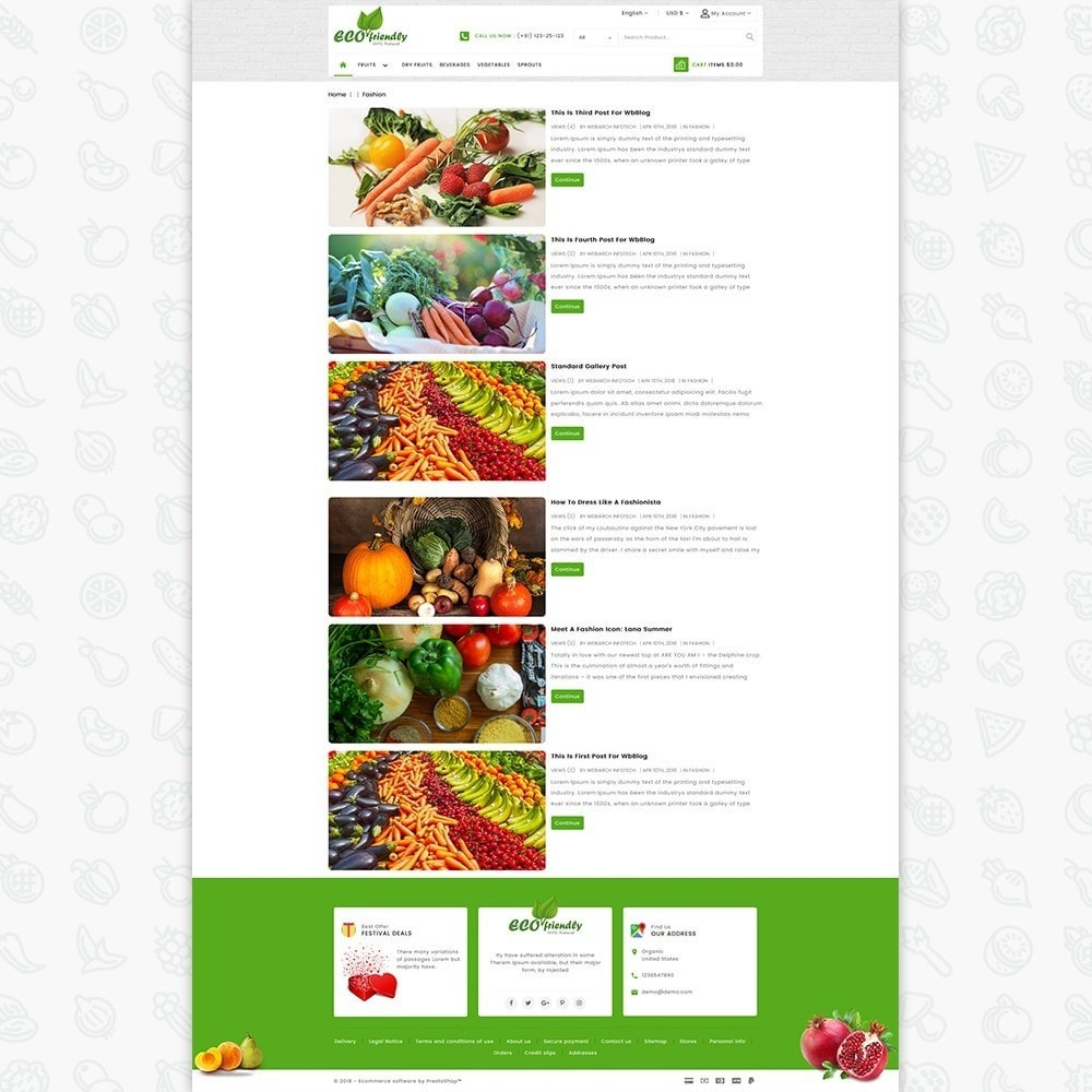 theme - Health & Beauty - Eco  - Friendly Organic Food Template - 6