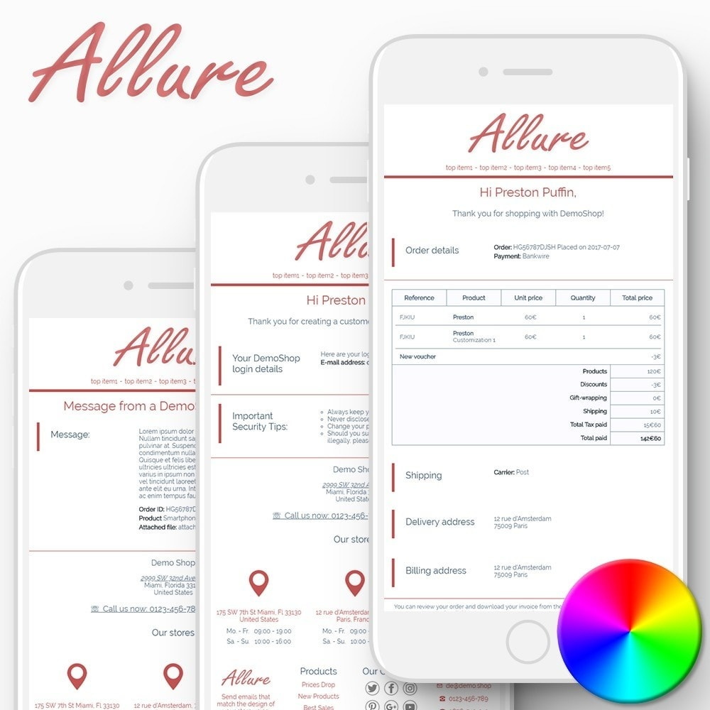 Allure - Email templates