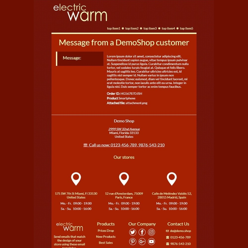 Electric Warm - Email templates