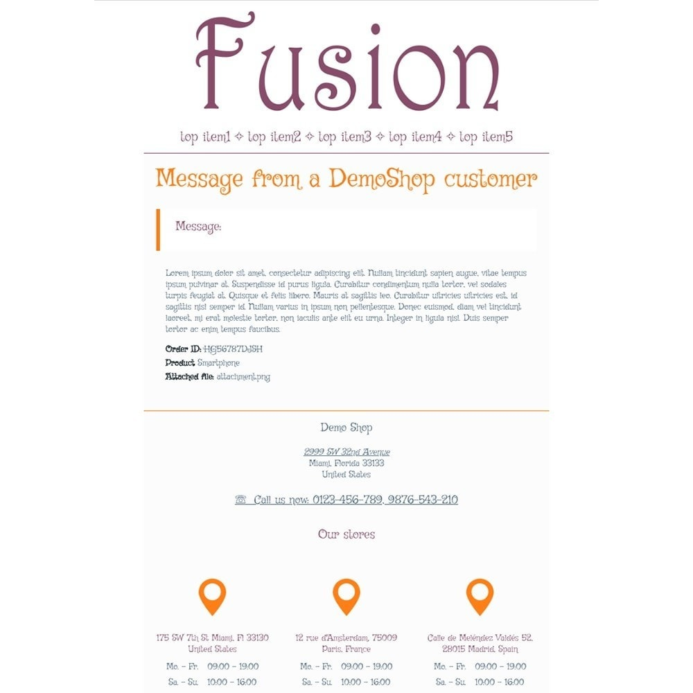Fusion - Email templates