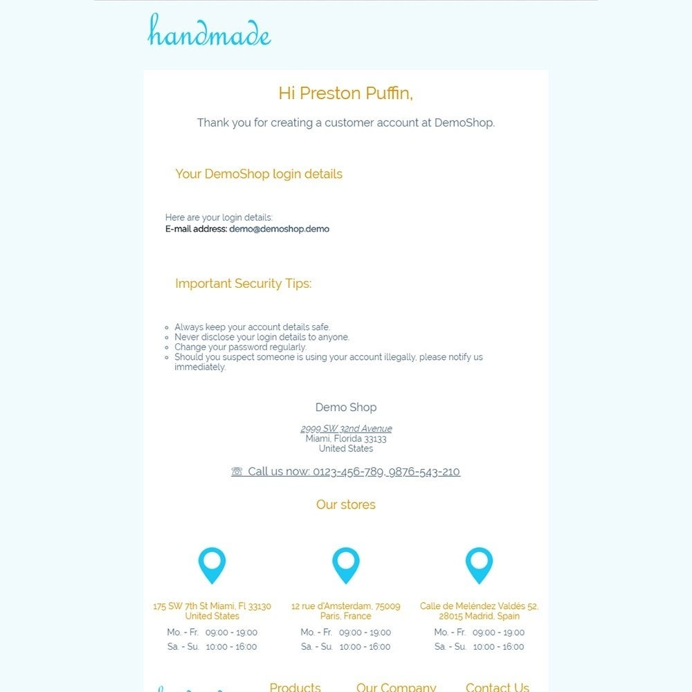 Handmade - Email templates