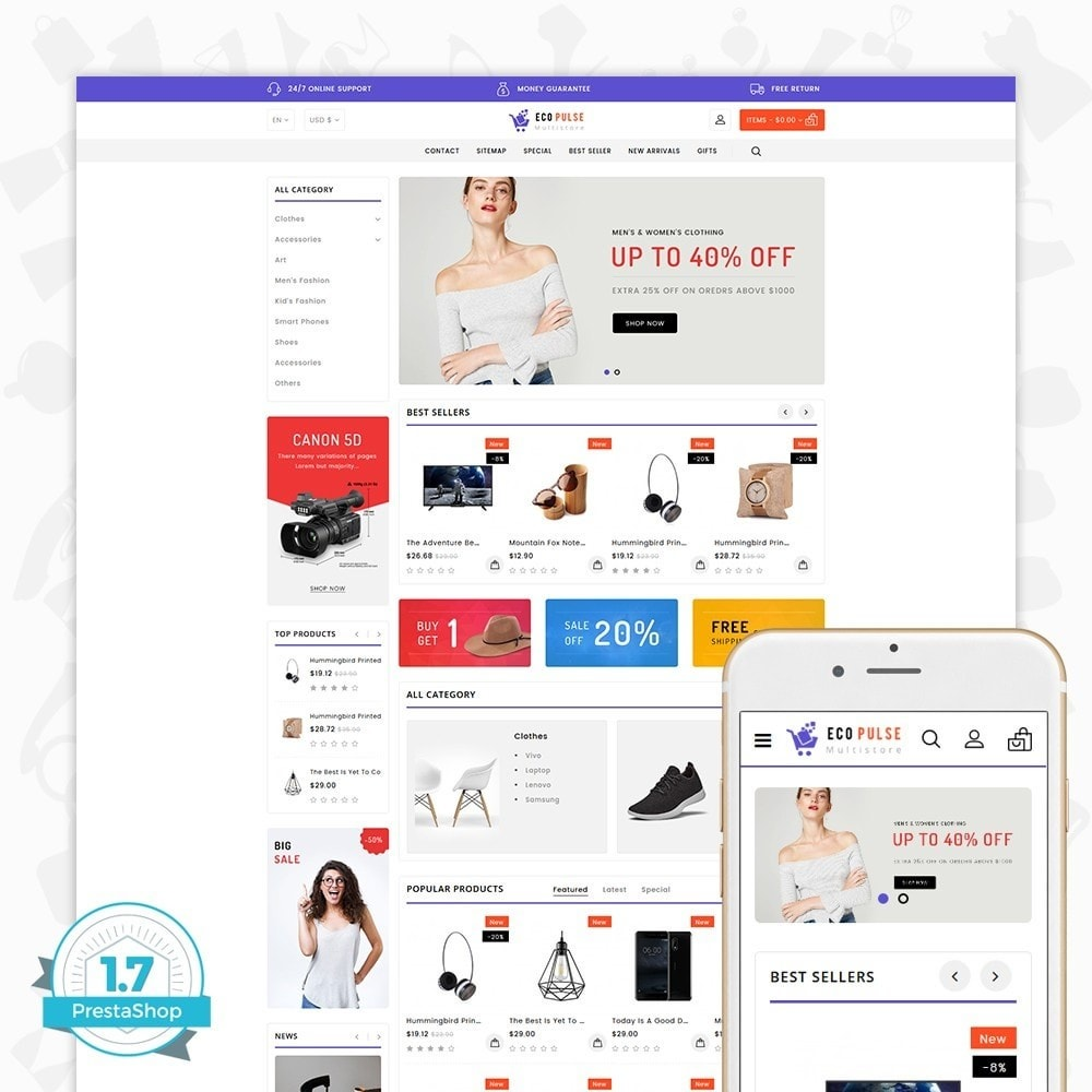 theme - Electronique & High Tech - EcoPulse - The Online Shopping - 1