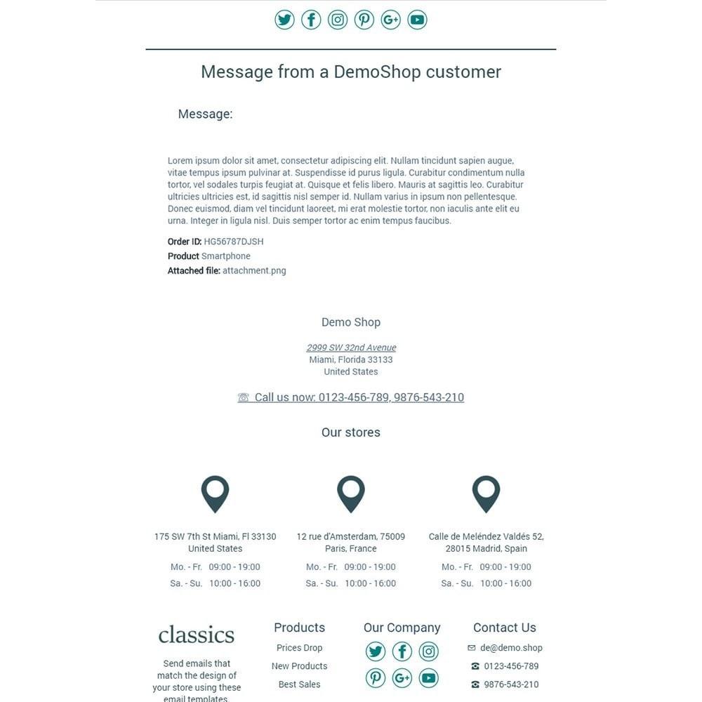 Classics - Email templates