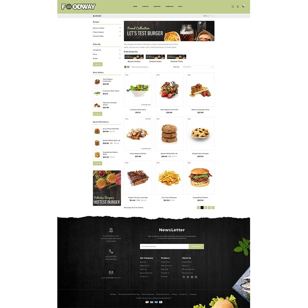 theme - Alimentation & Restauration - Foodway Demo Store - 3