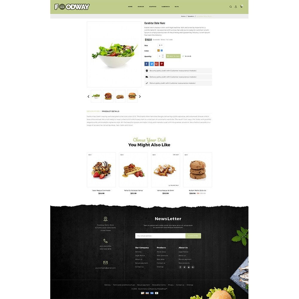 theme - Alimentation & Restauration - Foodway Demo Store - 5