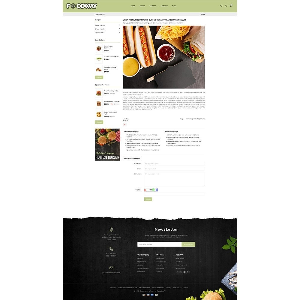 theme - Alimentation & Restauration - Foodway Demo Store - 8