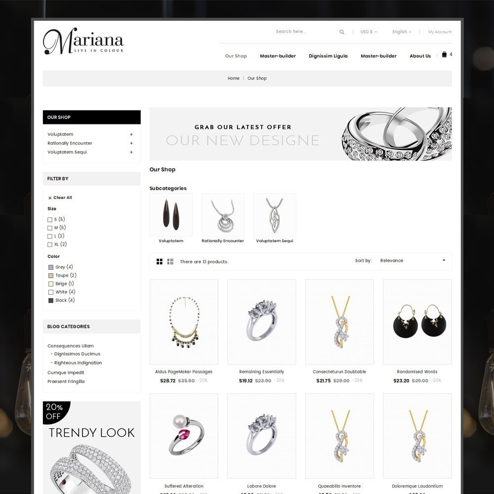 theme - Jewelry & Accessories - Mariana - The Jewelry Store - 4