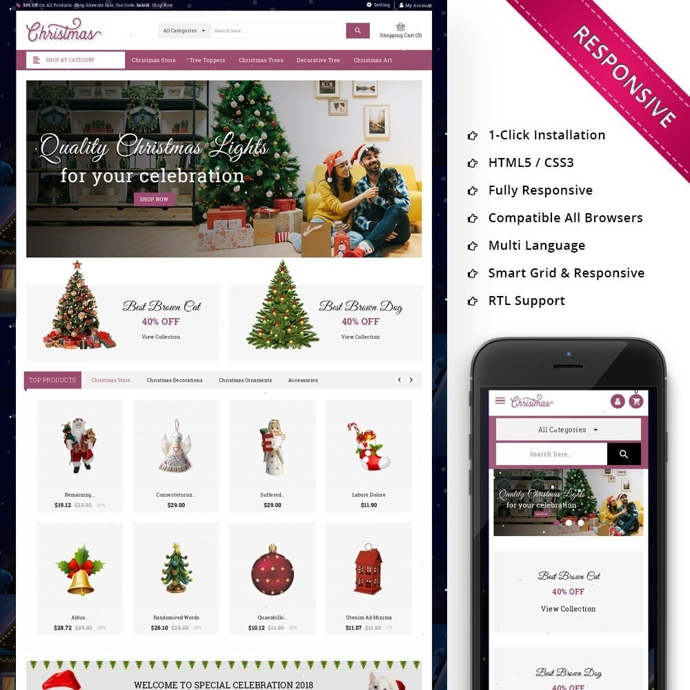 theme - Gifts, Flowers & Celebrations - Christmas - The Gift Shop - 1