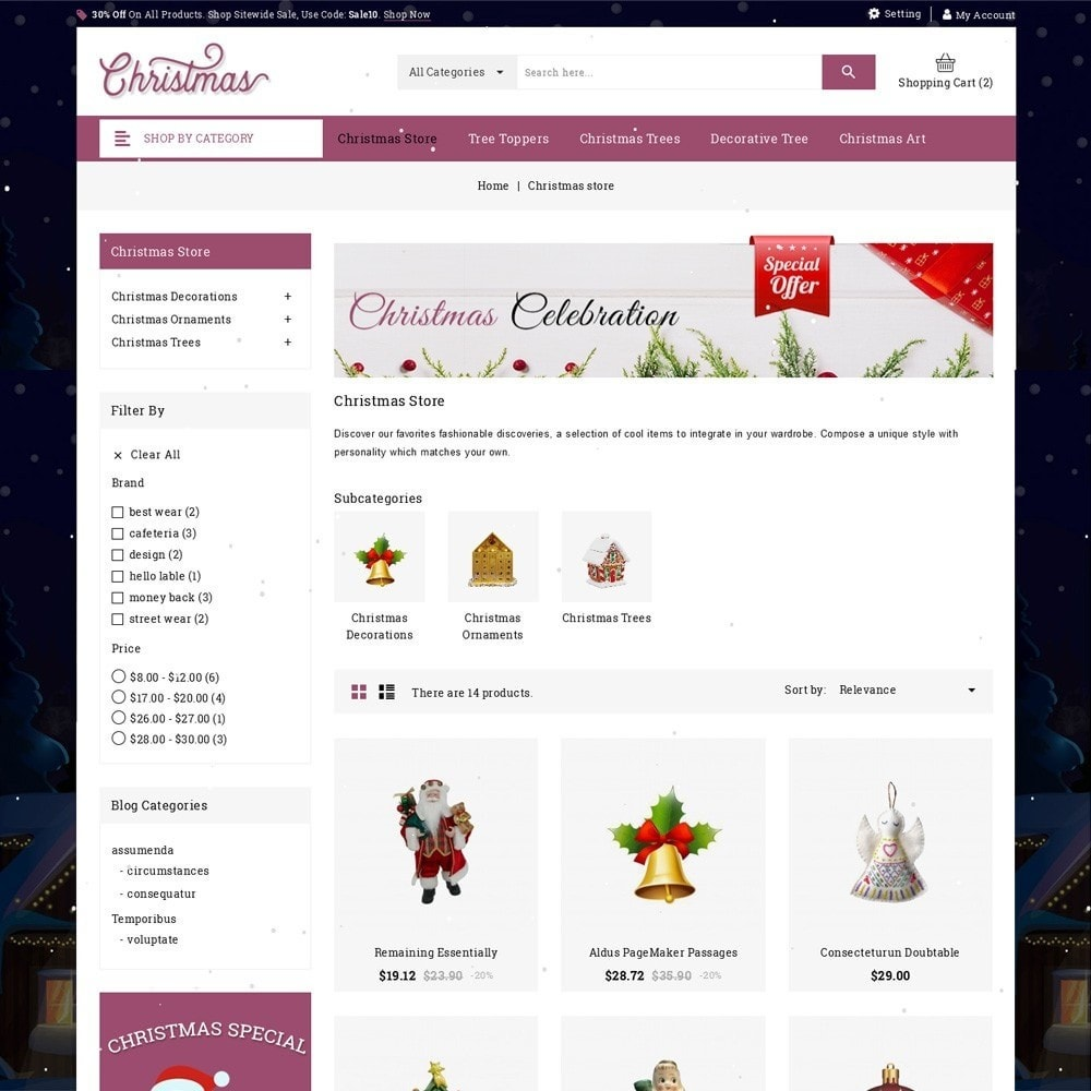 theme - Подарки, Цветы и праздничные товары - Christmas - The Gift Shop - 4