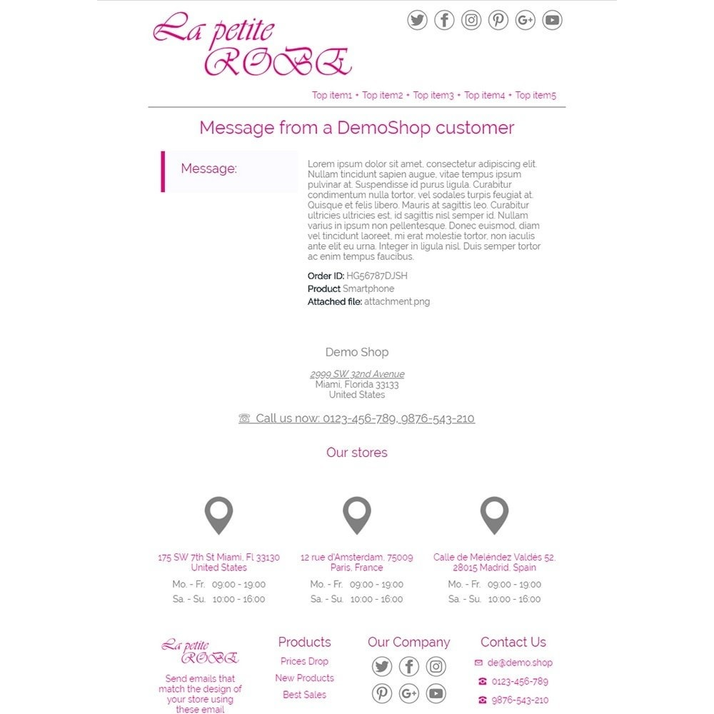 La Petite Robe - Email templates
